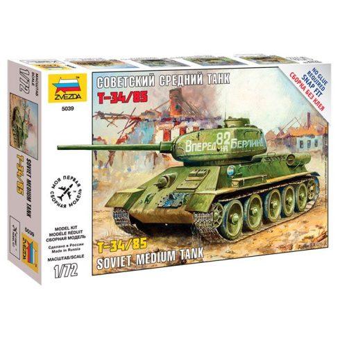 Zvezda Soviet Medium Tank T-34/85 tank makett 5039