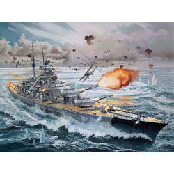 Revell Battleship Bismarck hajó makett 5040