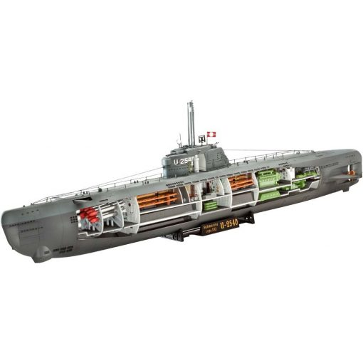 Revell German U-Boot Type XXI with interior tengeralattjáró makett 5078