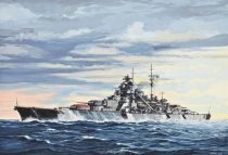 Battleship Bismarck hadihajó makett revell 5098