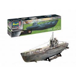 Revell German Submarine Type VII C/41 PLATINUM EDITION tengeralattjáró makett (1:72) 5163