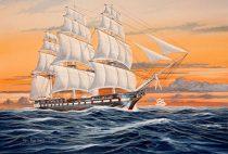 U.S:S. Constitution hajó makett revell 5472