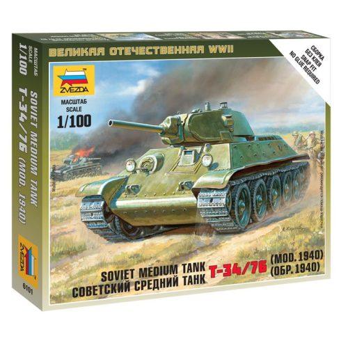Zvezda Soviet Medium Tank T-34/76 (mod.1940) tank makett 6101
