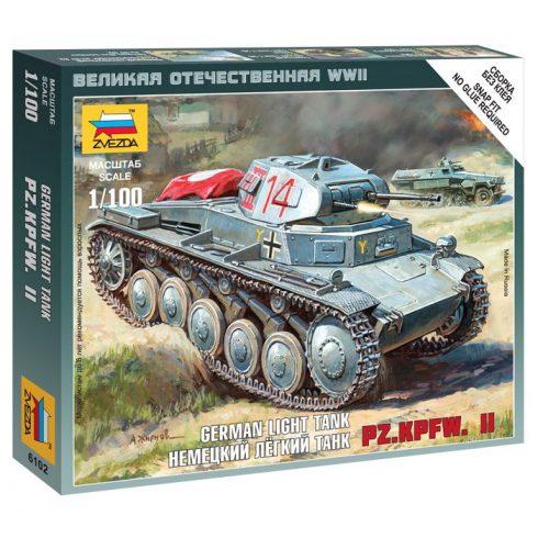 Zvezda German Light Tank Pz.Kp.fw II tank makett 6102