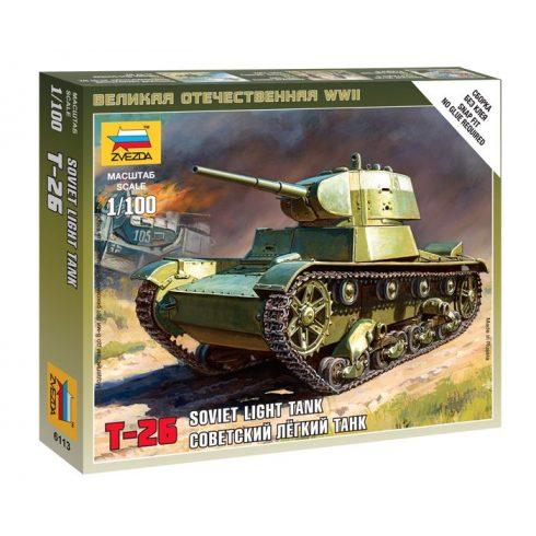 Zvezda Soviet Tank T-26 tank makett 6113