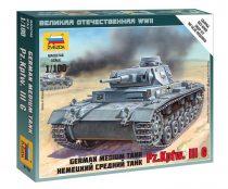 German Medium Tank Pz.Kp.fw III G tank makett Zvezda 6119