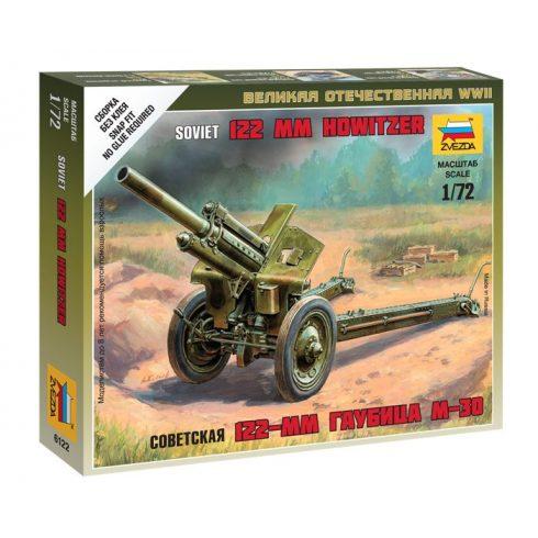 Soviet 122-mmm Howizer löveg makett Zvezda 6122
