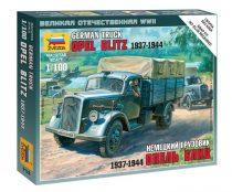 German Truck Opel Blitz (1937-1944) katonai jármű makett Zvezda 6126