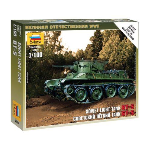 Zvezda Soviet Light Tank BT-5 tank makett 6129