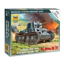 German Light Tank PZ.KPFW.38 (T) tank makett Zvezda 6130