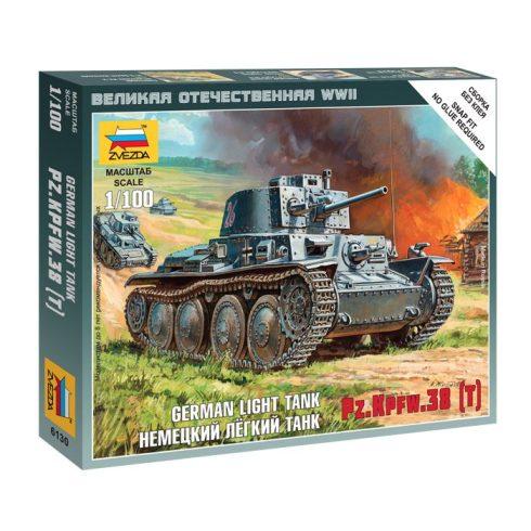 Zvezda German Light Tank PZ.KPFW.38 (T) tank makett 6130