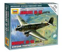 German Transport Plane Ju-52 1932-45 katonai repülő makett Zvezda 6139