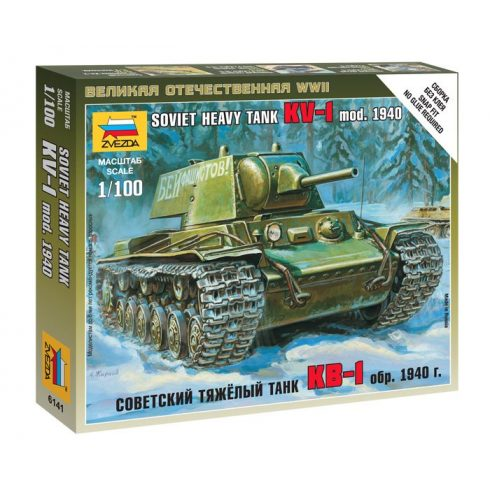 Zvezda Soviet Heavy Tank KV-1 mod. 1940 tank makett 6141