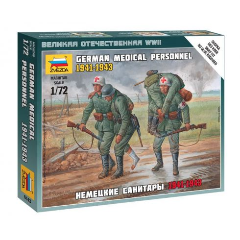 German Megical Personnel 1941-43 figura makett Zvezda 6143