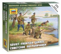 Soviet Frontier Guard Military small set figura makett Zvezda 6144