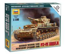 German Medium Tank Pz-4 AUSF.D tank makett Zvezda 6151