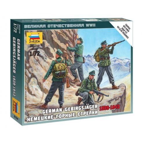 German Gebirgsjager figura makett Zvezda 6154
