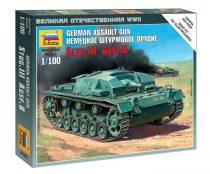 German assault gun Stug-III Ausf.B tank makett Zvezda 6155