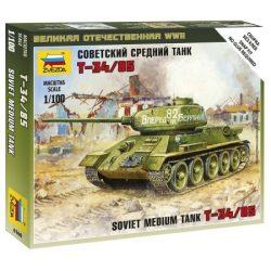 Soviet Tank T-34/85 tank makett Zvezda 6160