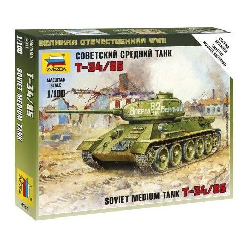 Zvezda Soviet Tank T-34/85 tank makett 6160