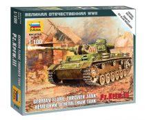 German flamethrower tank Pz.Kfw III tank makett Zvezda 6162