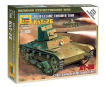 Soviet flame thrower tank KhT-26 tank makett Zvezda 6165