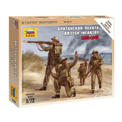 British Infantry 1939-1945 figura makett Zvezda 6166