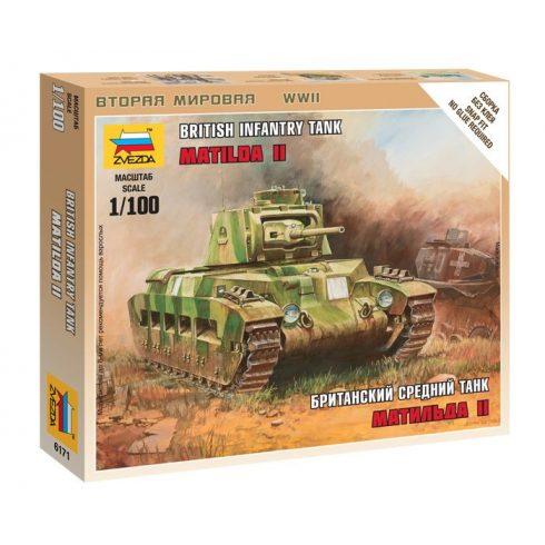 Zvezda British Tank Matilda MK-II tank makett 6171