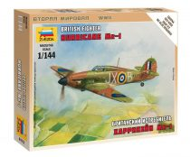 British Fighter Hurricane Mk-1 repülő makett Zvezda 6173