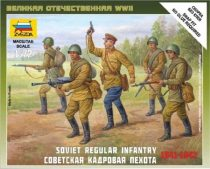 Zvezda Soviet Regular Infantry 1941-42 1/72 (6179) figura makett