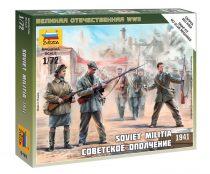 Soviet Militia 1941 figura makett Zvezda 6181
