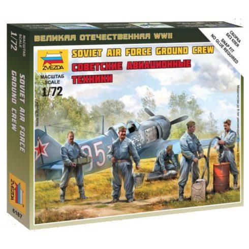Soviet airforce ground crew figura makett Zvezda 6187