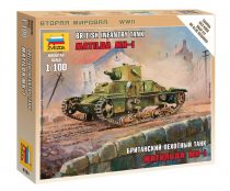"British Light Tank ""Matilda Mk I"" tank makett Zvezda 6191"