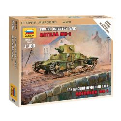 "British Light Tank ""Matilda Mk I"" tank makett Zvezda 6191"