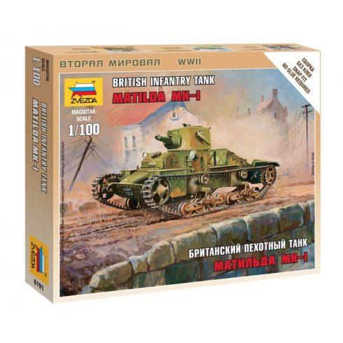 "Zvezda British Light Tank ""Matilda Mk I"" tank makett 6191"