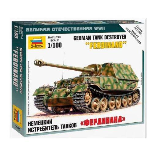 Zvezda Sd.Kfz.184 Ferdinand Heavy Tank Destroyer makett 6195