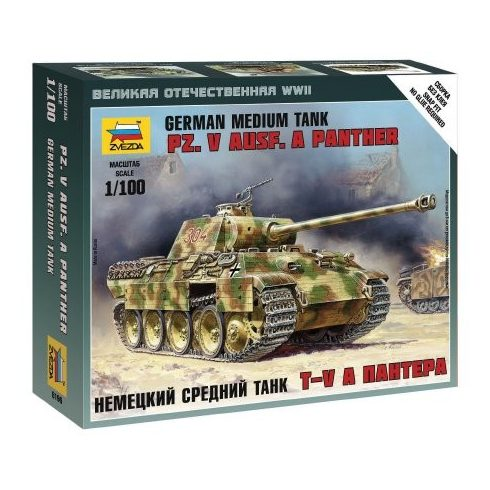 Zvezda Pz.Kpfw.V Panther Ausf.A tank makett 6196
