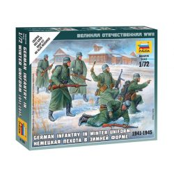 German Infantry (winter uniform) figura makett Zvezda 6198