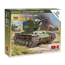 Soviet tank KV-2 tank makett Zvezda 6202