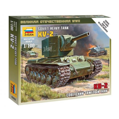Zvezda Soviet tank KV-2 tank makett 6202