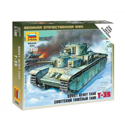 Zvezda Soviet heavy tank T-35 tank makett 6203