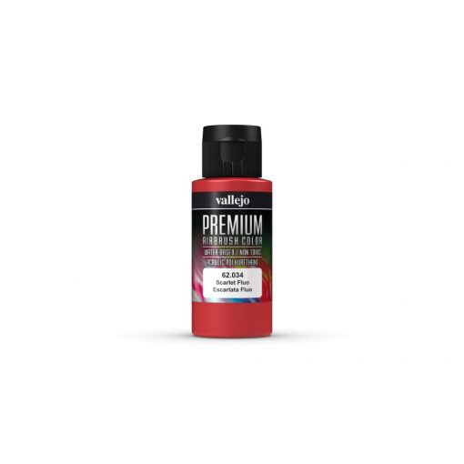 Vallejo Scarlet Fluo Premium Fluorescent festék 62034