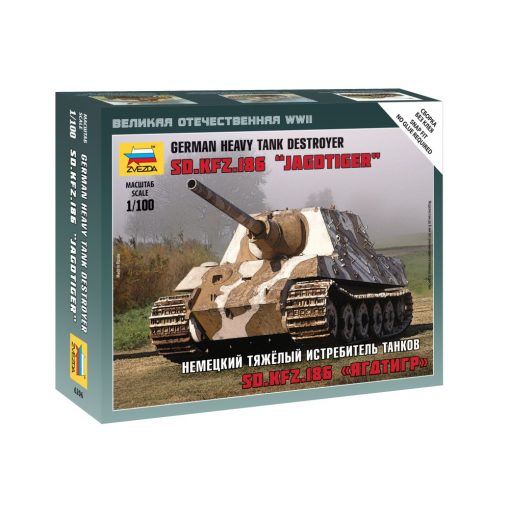 Zvezda Sd. Kfz. 186 Jagdtiger Military small sets makett 1:100 6206