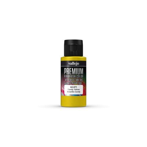 Vallejo Candy Yellow Premium Candy festék 62071