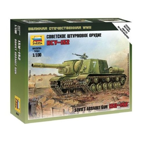 Zvezda Soviet Self-Propelled Gun ISU-152 1:100 (6207) tank makett