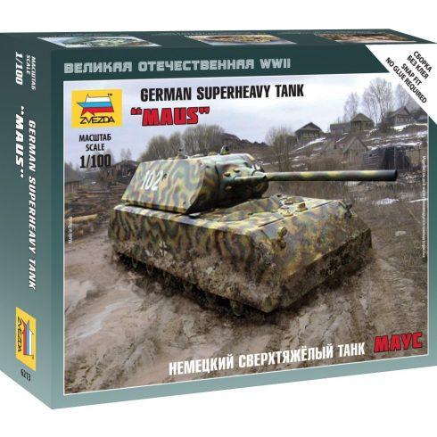 Zvezda Maus German Super Heavy tank makett 6213