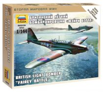 Zvezda British Light Bomber Fairey Battle katonai repülő makett 6218