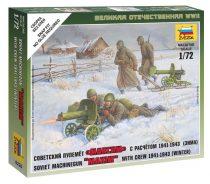 Soviet machine-gun with crew (winter uniform) figura makett Zvezda 6220