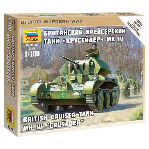 Zvezda British Tank Crusader IV tank makett 6227