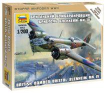 British Bomber Bristol Blenheim MK-IV katonai repülő makett Zvezda 6230